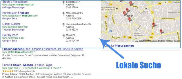 """Lokale Suchergebnisse für """"Friseur Aachen"""""""